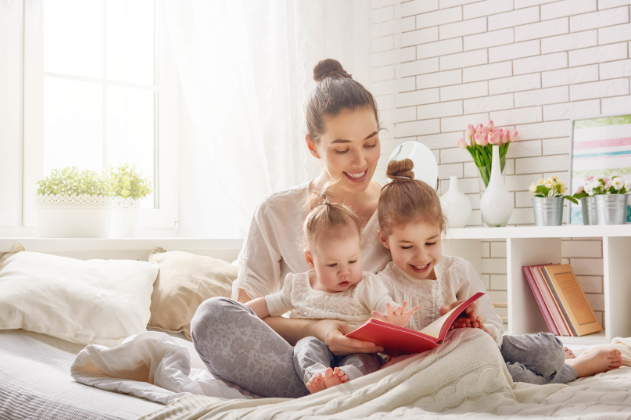 Mom Reading To Her Small Children | Children's Dentist Columbus MS