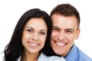 Couple smiling after Teeth Whitening in Columbus MS